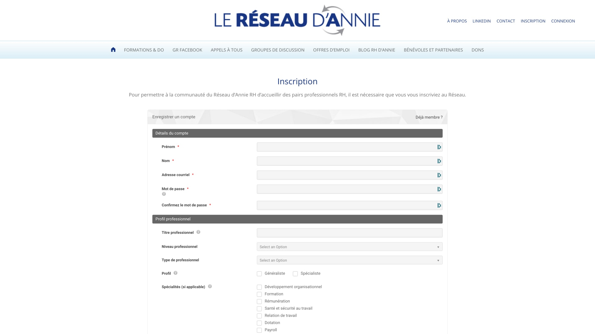 Reseau-Annie-Inscription-Sidney-Malgras-UX-UI-Designer